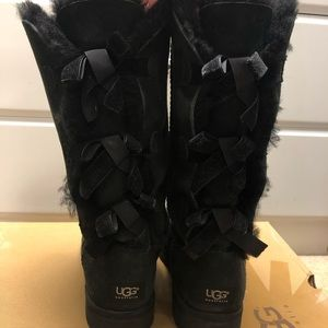 UGG Bailey Bow Tall Boots - Black
